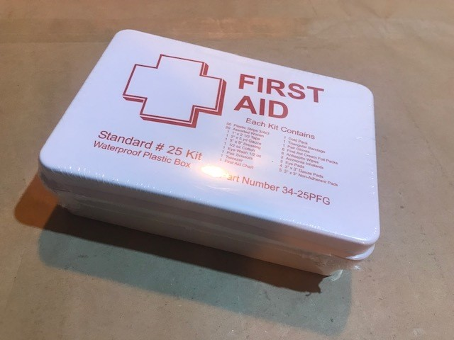 """First Aid Kit, 11"""" x 7 1/2"""" x 2 1/2"""", 25 person"""