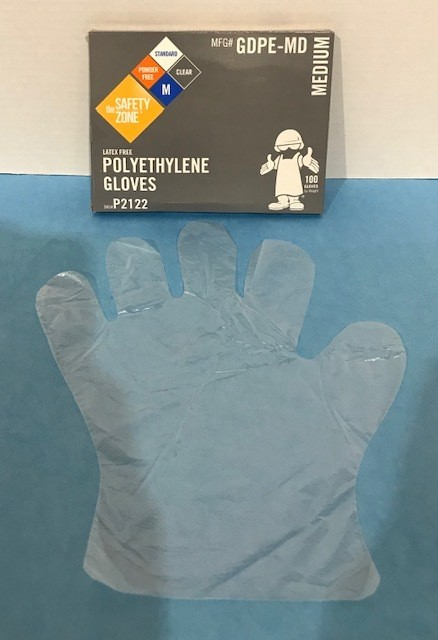 GLOVES SERVING PLASTIC RE
