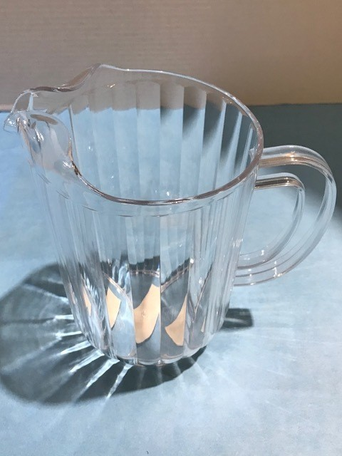 PITCHER, CLEAR PLASTIC