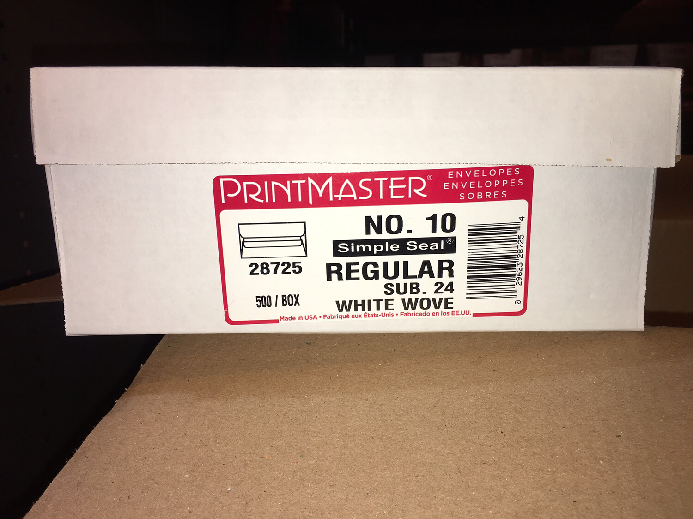 Envelope, #10, Plain White (500/BX) 4-1/4 X 9-1/2 Self-Seal
