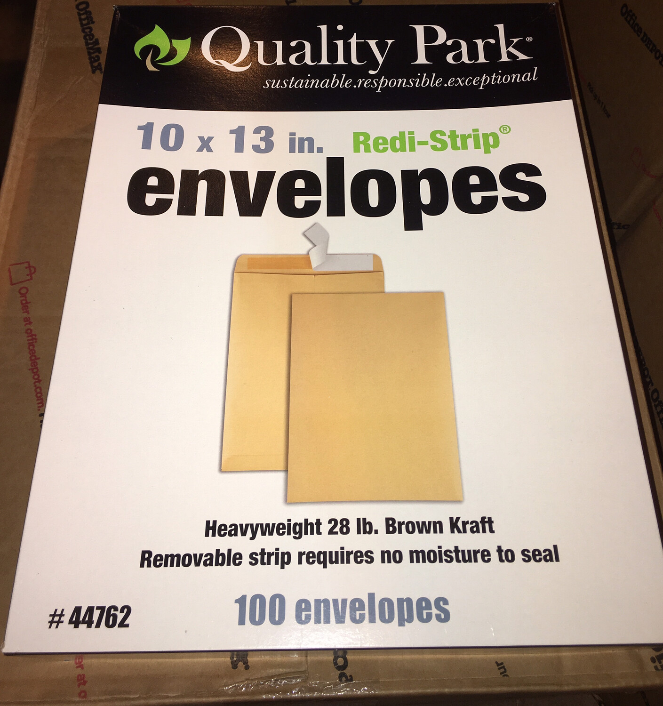 "Envelope, Manila, 10"" X 13"" Self-Sealed 100/BOX"