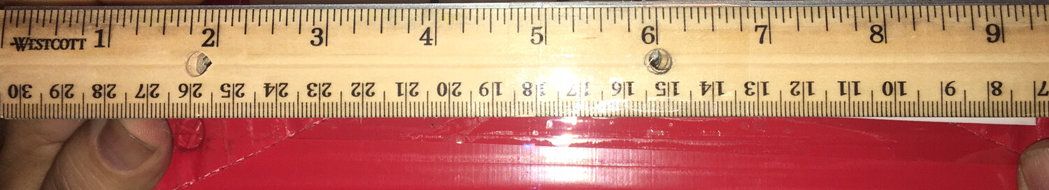 "Rulers, 12"" Wood, (Cm) with metal edge, 12/pack."