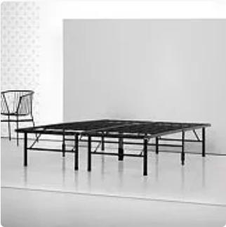 Cal-King Spa Sensations by Zinus Steel SmartBase Bed Frame Black