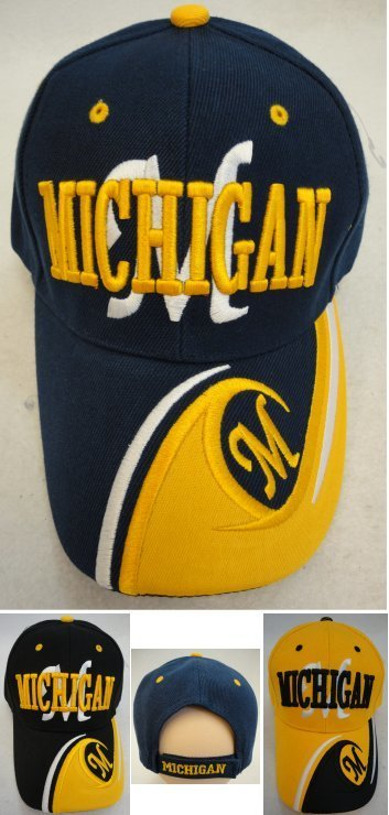 Michigan Hats-12 pieces