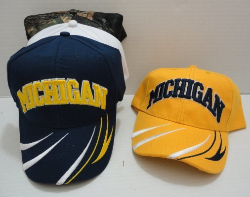 Michigan Hats-Stripes-12 piece pack