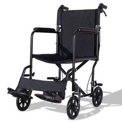 FDA Approved Lightweight Foldable Medical Wheelchair w/ Hand Brakes