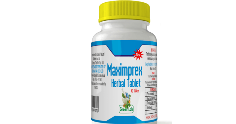 MAXIMPREX HERBAL TAB-Cure Infection/STD/STAPH/TOILET INFECTION/GHONO/Bacteria and fungi Infection