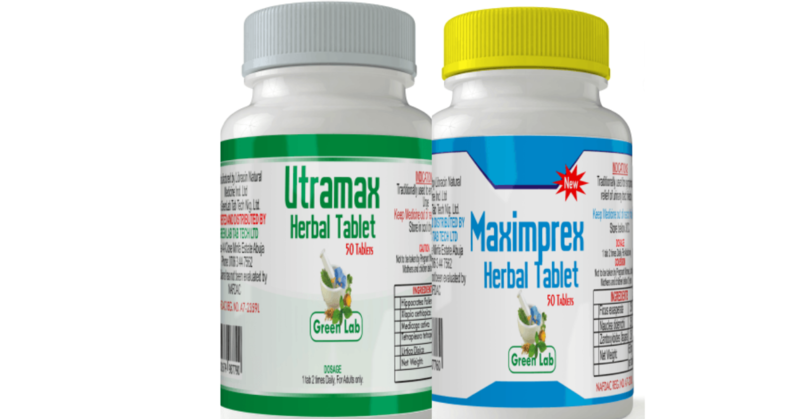 2in1 COMBO  (UTRAMAX AND MAXIMPREX HERBAL)-For cure of infection and last long in bed.