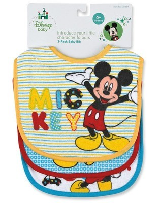 3 Piece Mickey Bib Set