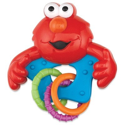 Sesame Street Rattle with Rings Pink or Blue