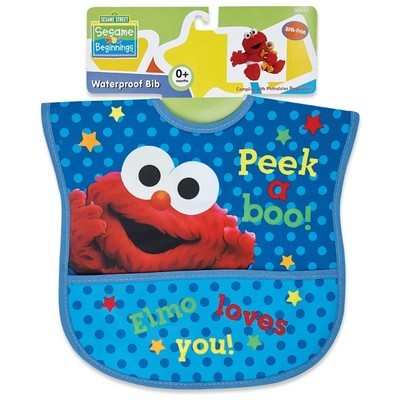 Sesame Street Waterproof Bib 3 Color Choices