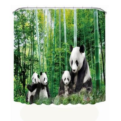 Printing Waterproof Personality Fabric Bathroom Shower Curtain