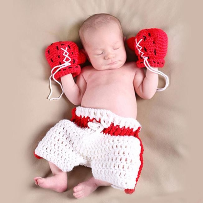 NewBorn Baby Crochet Knit Costume Clothes Photo Photography Prop Hat RD