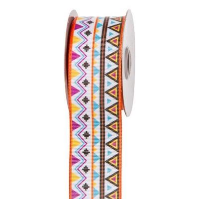 Bright Aztec Print Ribbon: 1-1/2 inch x 10 yards