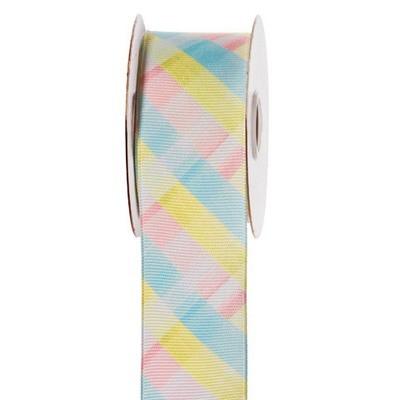 Pastel Plaid Ribbon: 1-1/2 inch x 10 yards