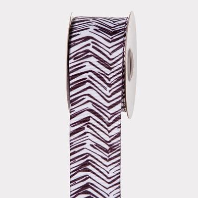 Black & White Chevron Ribbon: 1-1/2 inch x 10 yards