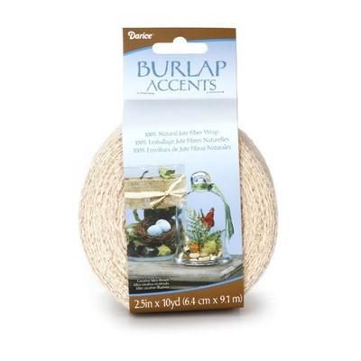 Darice® Natural Burlap Ribbon - Ivory - 2.5 inches x 10 yards