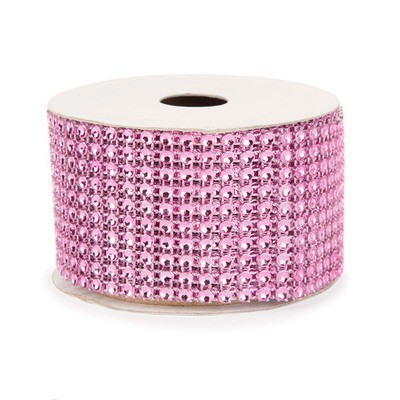 Mesh Fabric: Pink, 2 inches x 3 yards