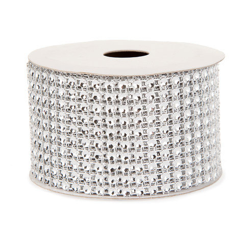 Mesh Fabric: Silver, 2 inches x 3 yards