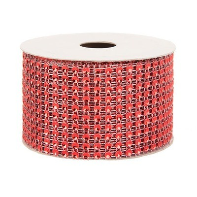 Mesh Fabric: Red, 2 inches x 3 yards