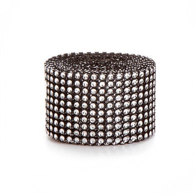 Mesh Fabric: Black/Silver, 2 inches x 3 yards