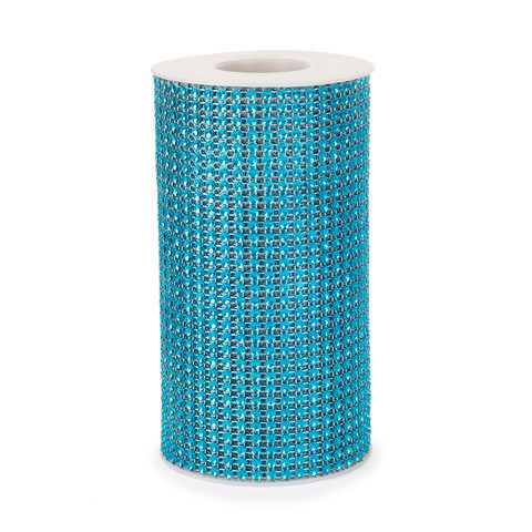 Mesh Fabric: Blue, 5.9 inches x 3 yards