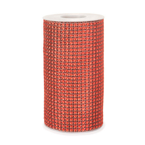 Mesh Fabric: Red, 5.9 inches x 3 yards