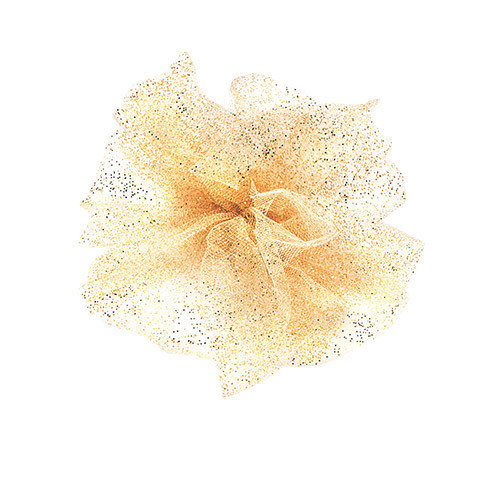 Glitter Tulle: Gold, 6 inches x 10 yards