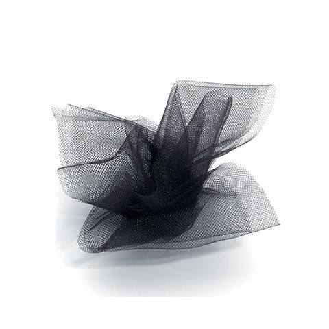 Tulle Netting - Black - 6 inches x 25 yards