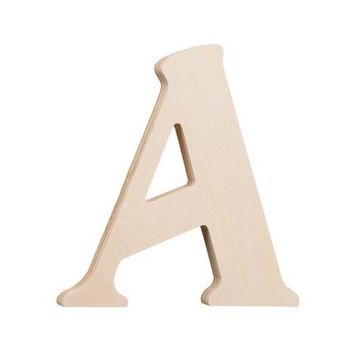 7.25 inch Unfinished Wood Fancy Letter A