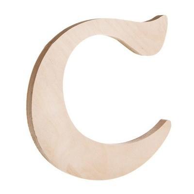 7.25 inch Unfinished Wood Fancy Letter C