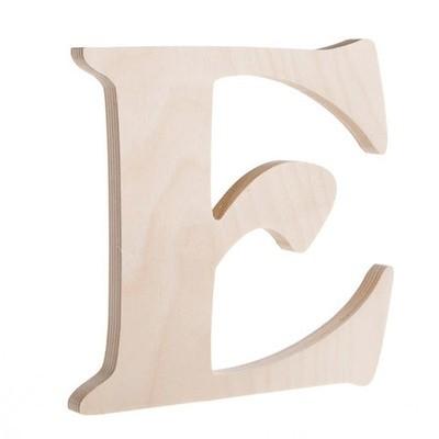7.25 inch Unfinished Wood Fancy Letter E