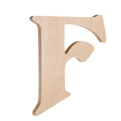 7.25 inch Unfinished Wood Fancy Letter F