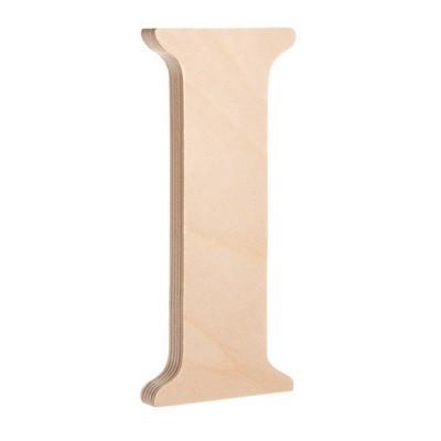 7.25 inch Unfinished Wood Fancy Letter I