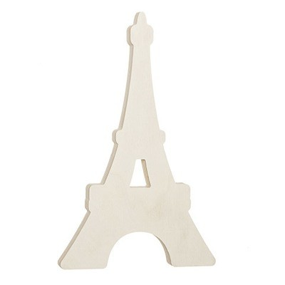 Eiffel Tower Standing Wood Shape: 6 x 8.13 inches