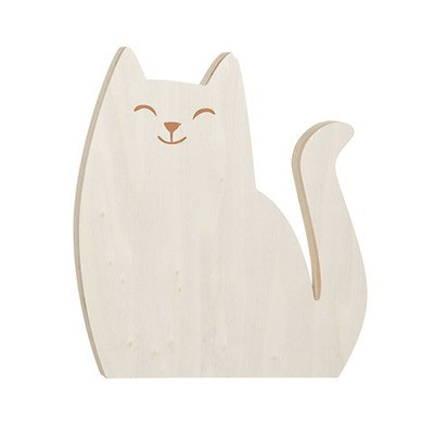 Cat Standing Wood Shape: 6 x 6.5 inches