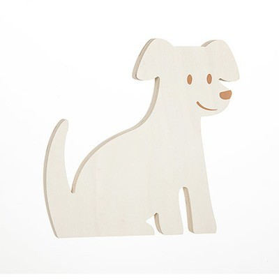 Dog Standing Wood Shape: 6.75 x 6.75 inches
