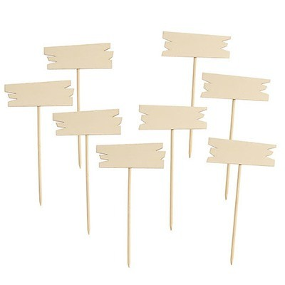 Unfinished Wood Garden Markers: 4.25 x 8 inches, 8 pack