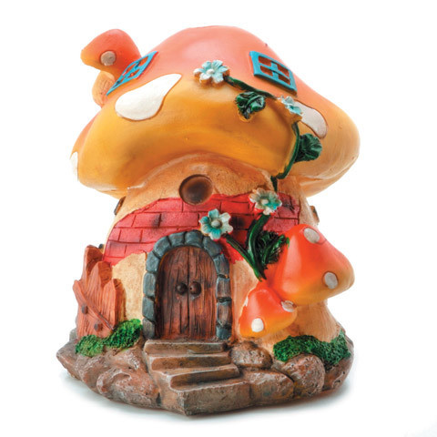 Darice® Yard and Garden Minis - Large Mushroom House - Resin - 6 x 5 inches