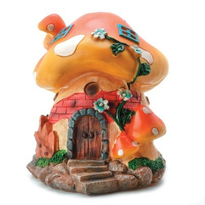 Darice® Yard and Garden Minis - Large Mushroom House - Resin - 6 x 5 inches