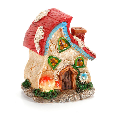 Garden Minis - Fairy Hut - Resin - 4 x 4.25 inches - 2 Assorted