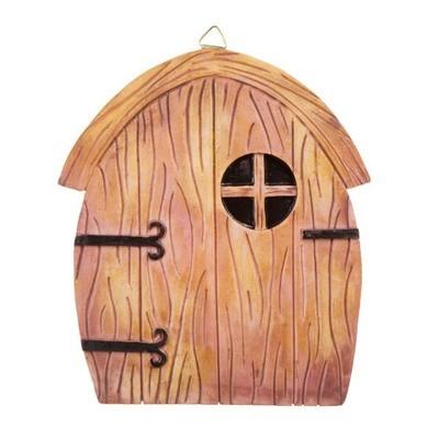 Fairy Garden Door with Hanging Hook - Resin - 5.5 x 6.25 inches