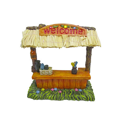 "Mini Fairy Garden Tikki Bar Figurine"" 5 inches"