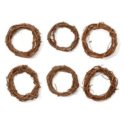 Grapevine Wreath - Natural - 6 inches  (6 Pack)
