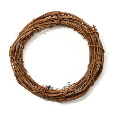 Grapevine Wreath - Natural - 12 inches  (sold in 3 pack)