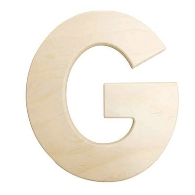12 inch Bold Unfinished Wood Letter G