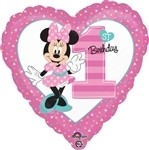 18 inch Disney Minnie 1st Birthday Boy, Price Per EACH