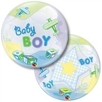 22 inch Baby BOY Airplane BUBBLES  Price Per EACH
