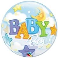 22 inch BUBBLES Baby BOY Moon & Stars