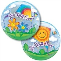 22 inch BUBBLES Get Well Soon! Kites
